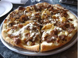 Large Cheese Steak Pizza