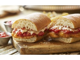 Half Chicken Parm Sub W/Fries
