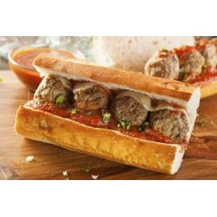 Half Meatball Parm Sub W/Fries
